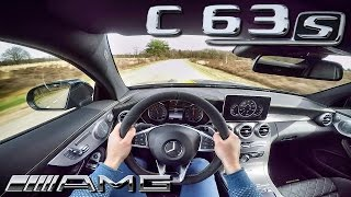 Mercedes C63 S AMG COUPE Edition1 POV Test Drive 4.0 V8 BiTurbo SOUND by AutoTopNL
