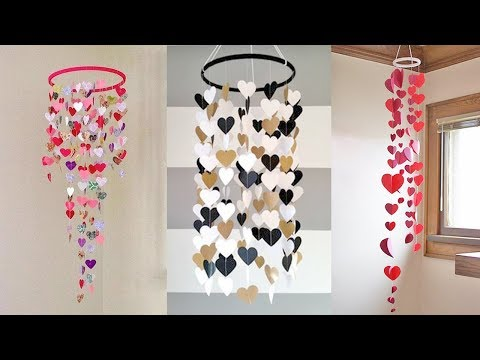 wall-hanging-craft-ideas-with-paper-diy-|-how-to-make-wall-hanging-with-paper-|-paper-jhumar-diy