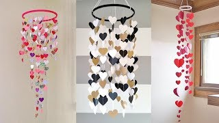 Wall Hanging Craft Ideas With Paper Diy | How To Make Wall Hanging With Paper | Paper Jhumar Diy