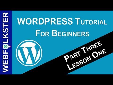 WordPress Tutorial for Beginners - Lesson 1, Part 3 thumbnail