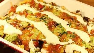 Nachos Corn Chips Guacamole Salsa Beef Bean Sour Cream Mexican