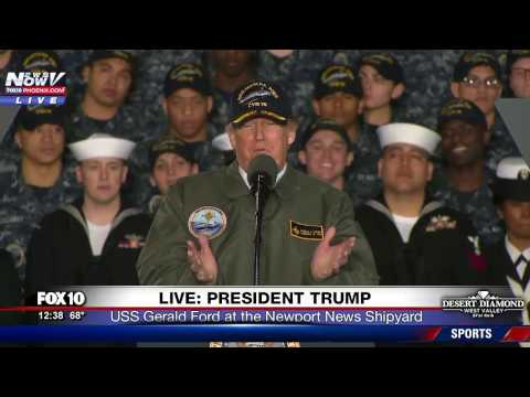 WATCH: President Trump Gives Inspiring Speech To Navy Military On USS Gerald Ford (FNN)