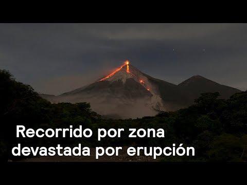 Carlos Loret recorre zona devastada por erupción del Volcán de Fuego - Despierta con Loret