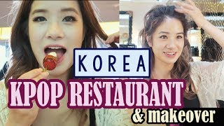Going to a KPOP Cafe & Kpop Makeup & Hair Transformation | KPOP Day Part 1