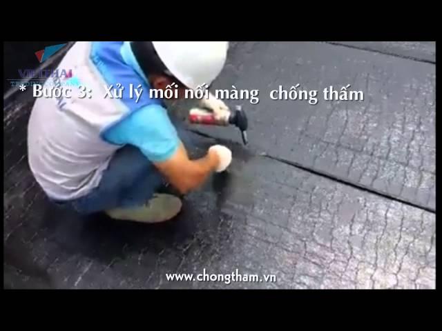 Cách chống thấmsàn mái công nghiệp bằng màng chống thấm bitum tự dính