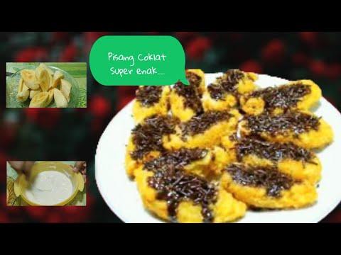 resep pisang keju coklat | pisang goreng cheese