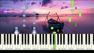 MARSHMELLO - ALONE - Very Easy Piano Tutorial MantapChord