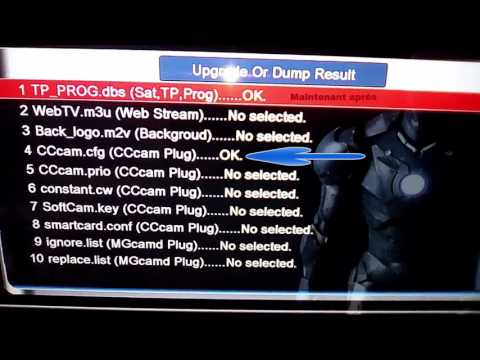 Skybox: Config Antenne+Installation+liste channel+cfg