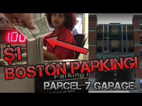 $1 / Hour Parking Garage In Downtown Boston!!! Parcel 7 Garage Tour - Boston MA