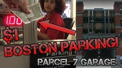 $1 / hour Parking Garage in Downtown Boston!!! Parcel 7 Garage Tour - Boston MA
