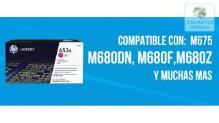Cartucho de toner HP 653A CF323A original color magenta para laserjet M675
