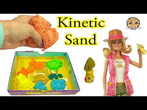 Kinetic Sand Dino Dig With Barbie Doll + Jurassic World Dinosaur Surprises - Cookieswirlc