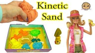 kinetic sand dino dig with barbie doll jurassic world dinosaur surprises cookieswirlc