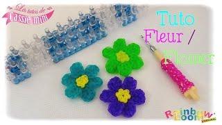 { Tuto } Fleur / Flower en élastiques Rainbow Loom