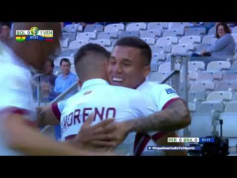 El gol más rápido de la Copa América es de Venezuela