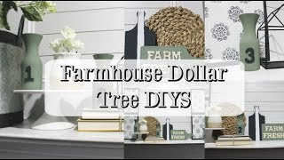 FARMHOUSE DOLLAR TREE DIYS | HOME DECORATING IDEAS