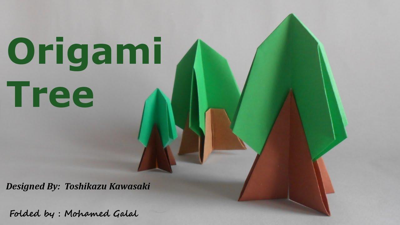 origami tree easy youtube