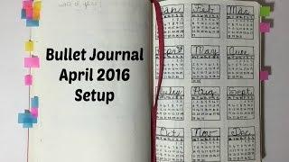 bullet journal april 2016 planner setup