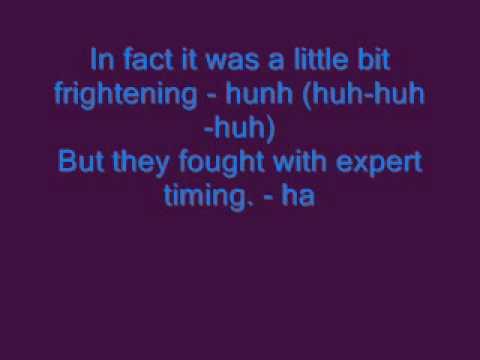 Fatboy Slim - Kung Fu Fighting (LYRICS ON SCREEN)