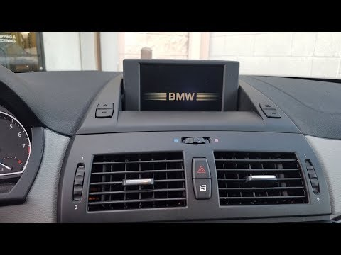 How To Remove Navigation Display From Bmw X3 2008 For Repair