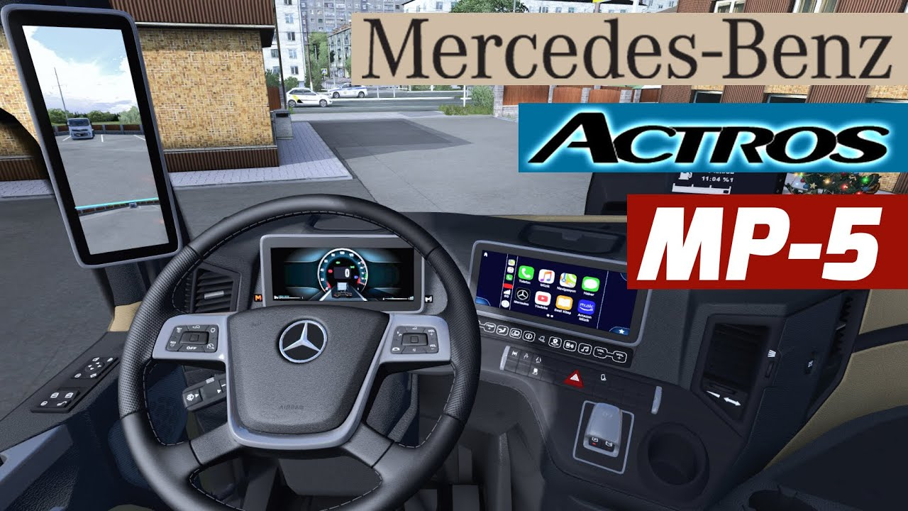 AYNASIZ SIFIR TIR İLE TÜRKİYE'YE GİDİYORUZ! - MERCEDES NEW ACTROS - ETS 2 Mod T300RS GT