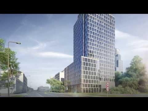 Prime Corporate Center. New office tower in the Warsaw city center.