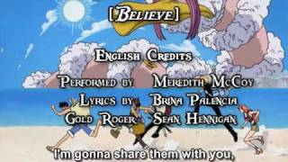 One Piece OP 02 - Believe (FUNimation English Dub, Sung by Meredith McCoy, Subtitled)