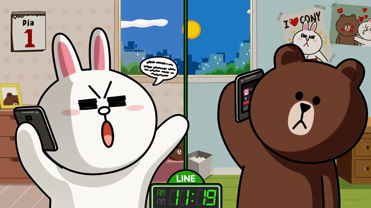 《LINE》Gấu Brown và Thỏ Cony ♡