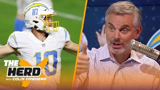 Justin Herbert could be an elite QB, talks Jon Gruden & Raiders after loss — Colin | NFL | THE HERD