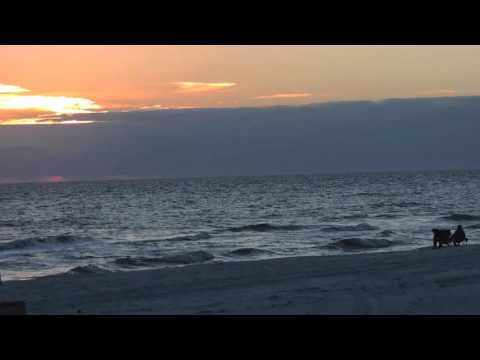 Santa Rosa Beach FL Sunsets January, 2016  HD 1080p