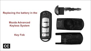 Replacing the battery (CR 2025) in the Mazda Advanced Keyless System key fob