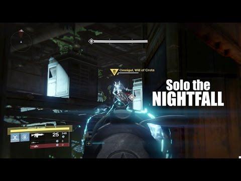 Destiny - Solo the Nightfall + Rewards! ('Omnigul, Arc Burn, Small Arms' Edition)