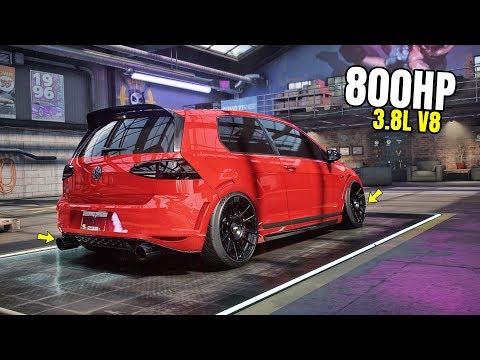 Need For Speed Heat Gameplay - 800HP VOLKSWAGEN GOLF GTI CLUBSPORT Customization | Max Build
