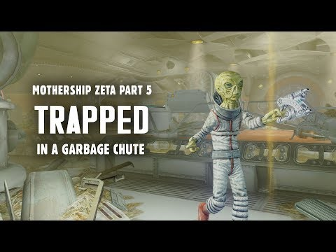 Mothership Zeta Part 5: Trapped in a Garbage Chute - Plus, Robot Assembly Area - Fallout 3 Lore