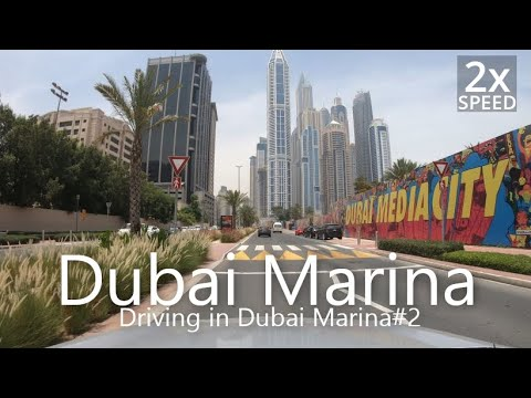 4K Driving in Dubai Marina#2 To Ibn Battuta Mall [UAE Drive#