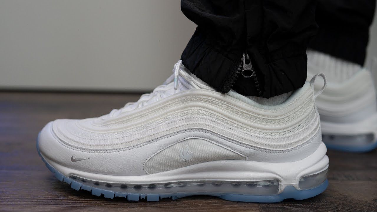 White Ice Nike Air Max 97 Unboxing Review On Feet Youtube