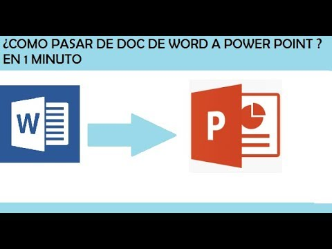 COMO PASAR DE UN DOCUMENTO DE WORD A DIAPOSITIVAS DE POWER