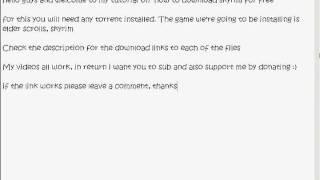How to Download The Elder Scrolls V: Skyrim %100 working /w sound!