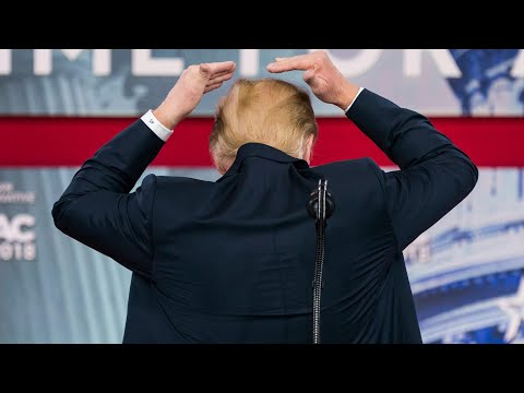 I try like hell to hide that bald spot, says Donald Trump