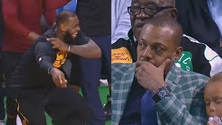 LeBron James Ruins Paul Pierce Jersey Retirement By Blowing Out Celtics