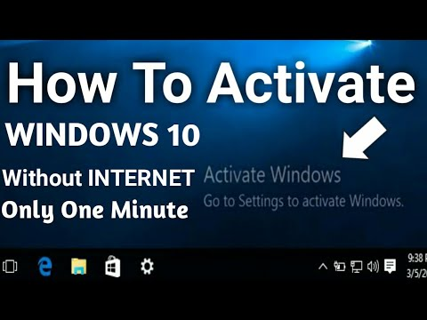 activate windows 10 without internet