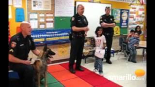 Police dog visits Lawndale Elementary