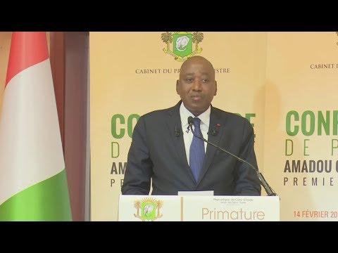 Conférence de presse du Premier Ministre Amadou Gon Coulibaly du 14 février 2018
