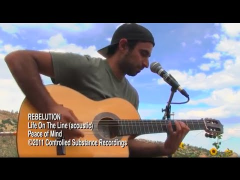 REBELUTIONs Eric Rachmany  Life On The Line  acoustic MoBoogie Session