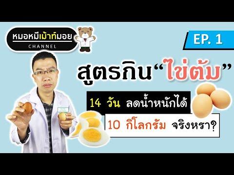 สูตรทานไข่ต้ม 14 วัน ลดน้ำหนักได้ 10 กิโลกรัม จริงหรา? | เม้าท์กับหมอหมี EP.1