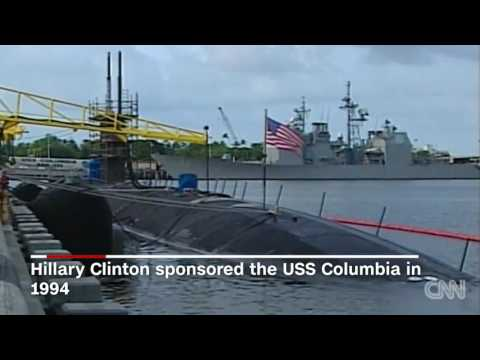 Navy submarine sponsored by Michelle Obama comes in