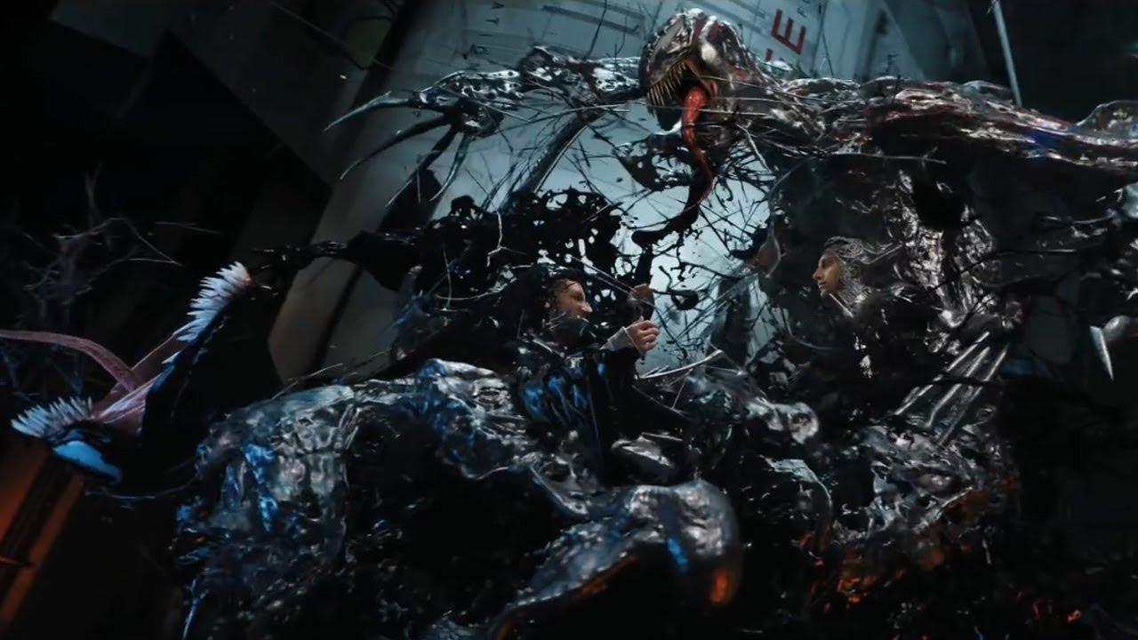 Image result for venom 2018 riot and venom fight
