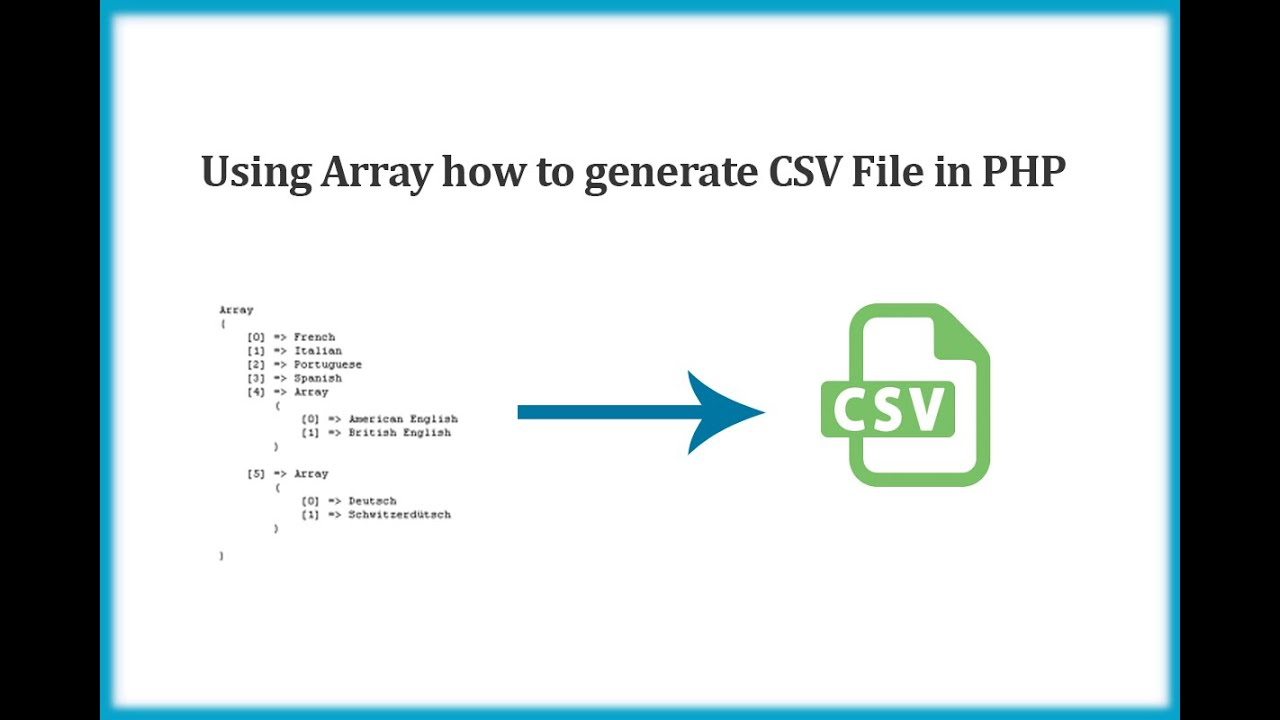 php array to csv