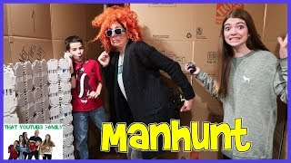 Manhunt In Huge Box Fort Maze! / That YouTub3 Family