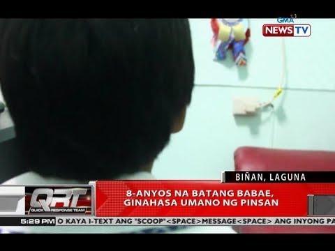 QRT: 8-anyos na batang babae, ginahasa umano ng pinsan